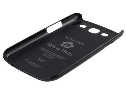 Vollter Ultra Slim Glossy Case plus Screen Protector for Samsung I9300 Galaxy S3 - Classic Black