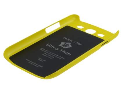 Vollter Ultra Slim Glossy Case for Samsung I9300 Galaxy S3 - Canary Yellow