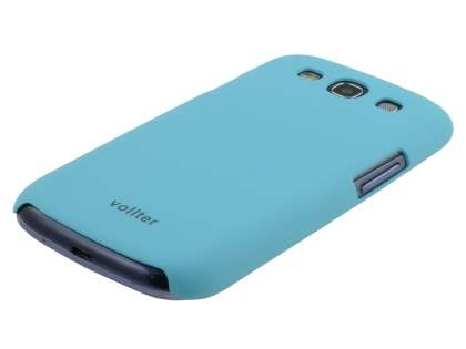 Vollter Ultra Slim Rubberised Case plus Screen Protector for Samsung I9300 Galaxy S3 - Sky Blue