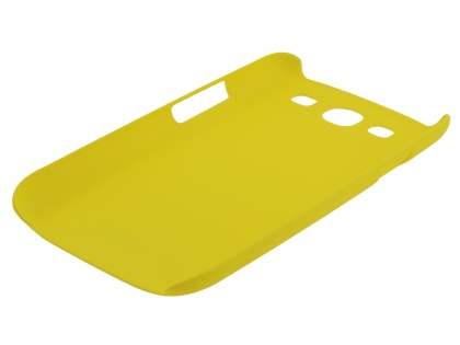 Vollter Ultra Slim Rubberised Case plus Screen Protector for Samsung I9300 Galaxy S3 - Canary Yellow