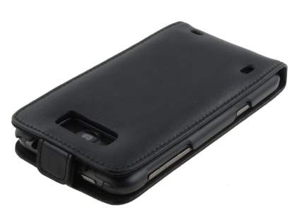 HTC Titan Genuine Leather Flip Case - Black