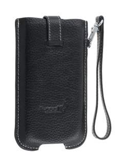 k-cool Genuine Leather Slide-in Case with Strap for LG Prada 3.0 - Classic Black