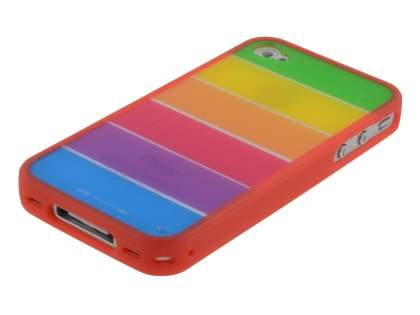 LIM'S RAINBOW Protective Case for iPhone 4S/4 - Rainbow Red