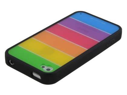 LIM'S RAINBOW Protective Case for iPhone 4S/4 - Rainbow Black