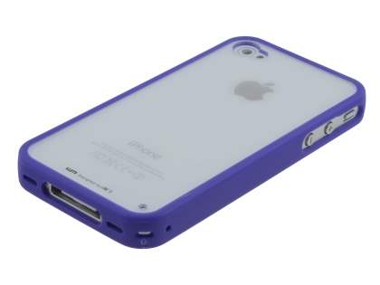 LIM'S Ultimate Crystal Case for iPhone 4S / 4 - Purple/Clear