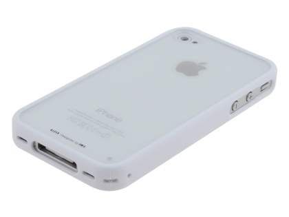 LIM'S Ultimate Crystal Case for iPhone 4S / 4 - White/Clear