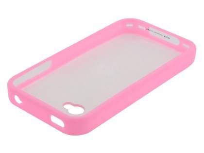 LIM'S Ultimate Crystal Case for iPhone 4S / 4 - Baby Pink /Clear
