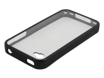 LIM'S Ultimate Crystal Case for iPhone 4S / 4 - Black/Clear