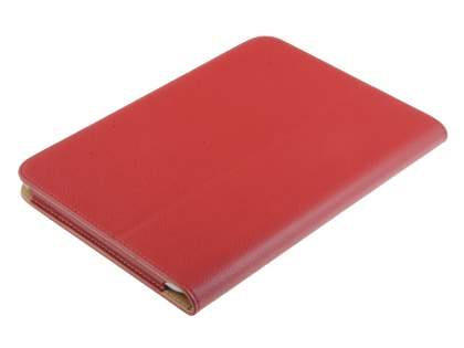 Samsung Galaxy Tab 8.9 4G Synthetic Leather Flip Case with Fold-Back Stand - Red