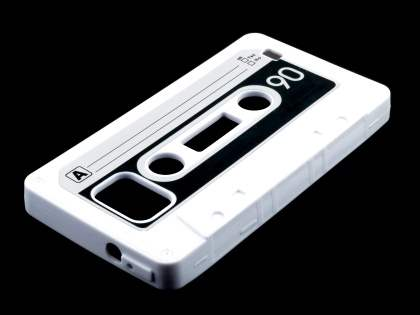 Cassette Tape Style TPU Case for Samsung I9100 Galaxy S2 - White