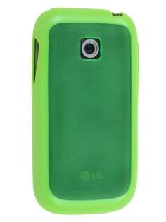 LG P690 Optimus Spirit Dual-Design Case - Green/Frosted Green