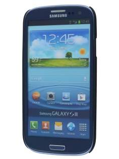 Vollter Ultra Slim Rubberised Case plus Screen Protector for Samsung I9300 Galaxy S3 - Classic Black