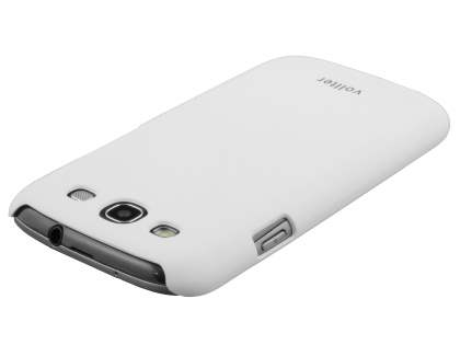 Vollter Ultra Slim Rubberised Case plus Screen Protector for Samsung I9300 Galaxy S3 - Pearl White