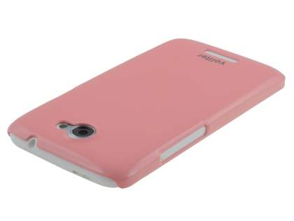 Vollter Ultra Slim Glossy Case plus Screen Protector for HTC One X / XL / X+ - Baby Pink