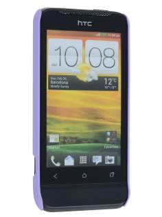 Vollter Ultra Slim Rubberised Case for HTC One V - Light Purple