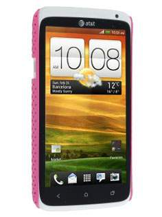 HTC One X / XL / X+ Slim Mesh Case - Pink