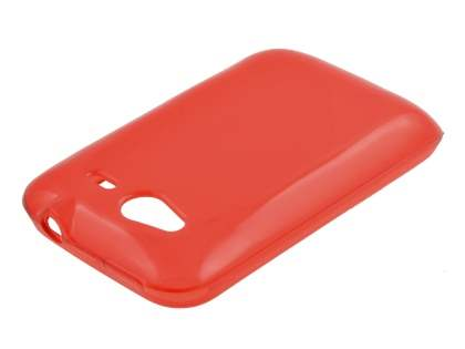 HTC Wildfire S Frosted Colour TPU Gel Case - Red