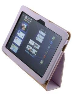 Samsung Galaxy Tab 10.1 Synthetic Leather Flip Case with Fold-Back Stand - Baby Pink