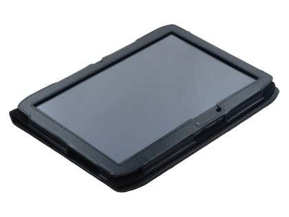 Motorola XOOM 2 10.1 Synthetic Leather Flip Case with Fold-Back Stand - Classic Black