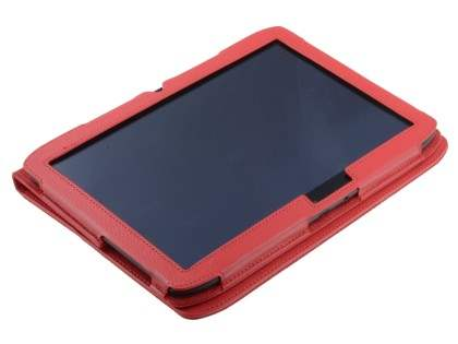 Synthetic Leather Flip Case with Fold-Back Stand for Motorola XOOM 2 10.1 - Red