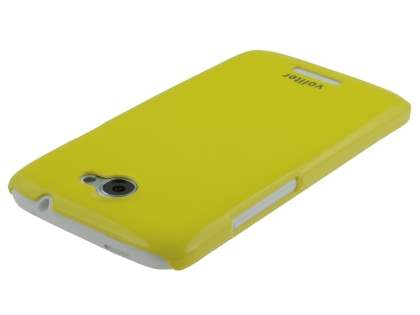 Vollter Ultra Slim Glossy Case plus Screen Protector for HTC One X / XL / X+ - Canary Yellow