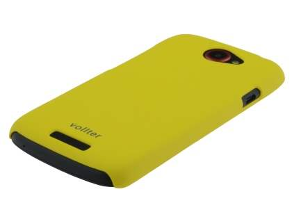Vollter Ultra Slim Rubberised Case for  HTC One S - Canary Yellow