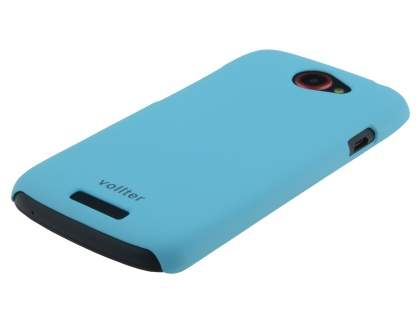 Vollter Ultra Slim Rubberised Case for  HTC One S - Sky Blue