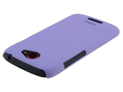 Vollter HTC One S Ultra Slim Rubberised Case plus Screen Protector - Light Purple