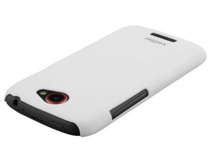 Vollter Ultra Slim Glossy Case plus Screen Protector for HTC One S - Pearl White