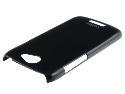 Vollter Ultra Slim Glossy Case plus Screen Protector for HTC One S - Classic Black