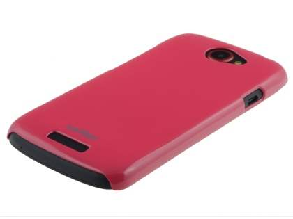 Vollter Ultra Slim Glossy Case plus Screen Protector for HTC One S - Amaranth Red