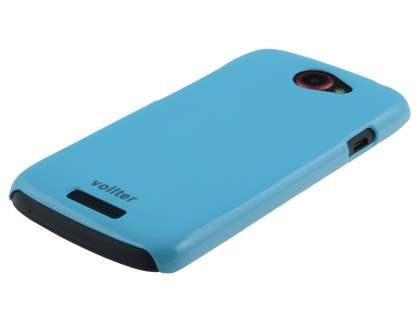 Vollter Ultra Slim Glossy Case plus Screen Protector for HTC One S - Sky Blue