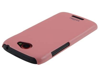 Vollter Ultra Slim Glossy Case plus Screen Protector for HTC One S - Baby Pink
