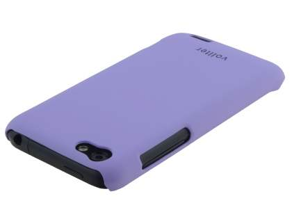 Vollter HTC One V Ultra Slim Rubberised Case plus Screen Protector - Light Purple