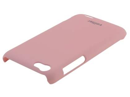 Vollter HTC One V Ultra Slim Rubberised Case plus Screen Protector - Baby Pink