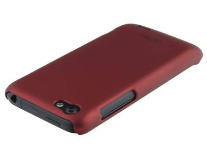 Vollter Ultra Slim Rubberised Case for HTC One V - Red
