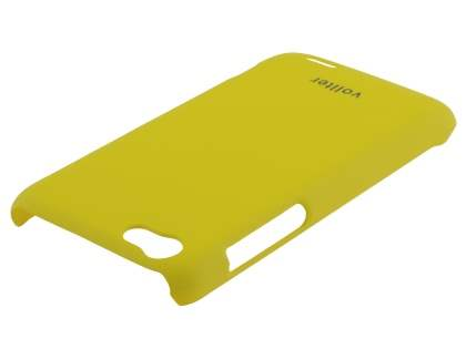 Vollter HTC One V Ultra Slim Rubberised Case plus Screen Protector - Canary Yellow