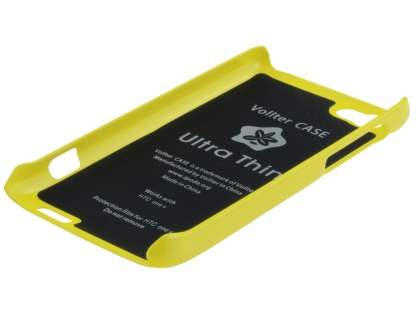 Vollter Ultra Slim Glossy Case plus Screen Protector for HTC One V - Canary Yellow