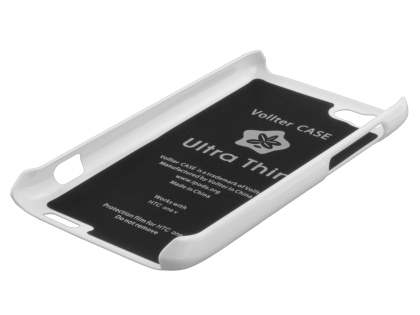 Vollter Ultra Slim Glossy Case plus Screen Protector for HTC One V - Pearl White