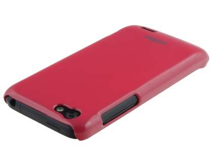 Vollter Ultra Slim Glossy Case plus Screen Protector for HTC One V - Amaranth Red