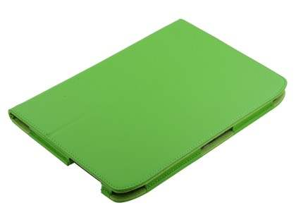 Motorola XOOM 2 10.1 Synthetic Leather Flip Case with Fold-Back Stand - Lime Green