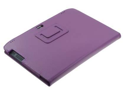 Motorola XOOM 2 10.1 Synthetic Leather Flip Case with Fold-Back Stand - Purple
