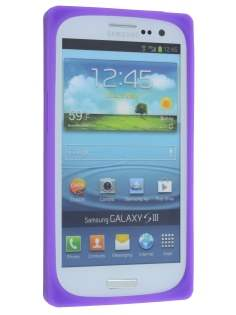 Samsung I9300 Galaxy S3 Cassette Tape Style Silicone Case - Purple/Blue