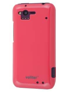 Vollter Ultra Slim Glossy Case plus Screen Protector for HTC Rhyme - Amaranth Red