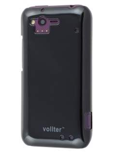 Vollter Ultra Slim Glossy Case for HTC Rhyme - Classic Black Hard Case