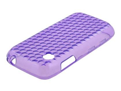 TPU Gel Case for LG GS290 Cookie Fresh - Diamond Purple Soft Cover