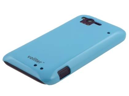 Vollter Ultra Slim Glossy Case plus Screen Protector for HTC Rhyme - Sky Blue