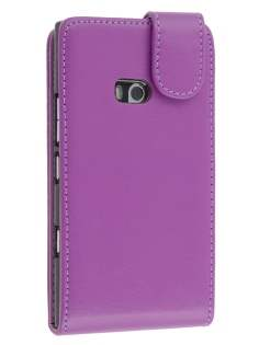 Synthetic Leather Flip Case for Nokia Lumia 900 - Purple Leather Flip Case