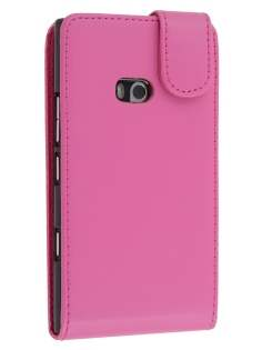 Synthetic Leather Flip Case for Nokia Lumia 900 - Pink Leather Flip Case