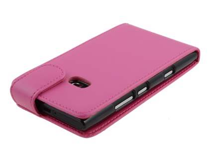 Nokia Lumia 900 Synthetic Leather Flip Case - Pink